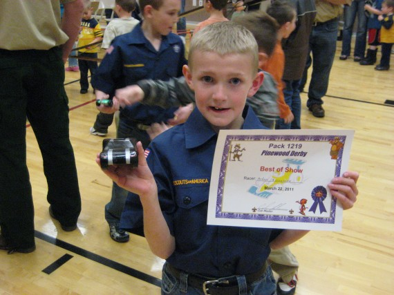 Anders first Pinewood Derby