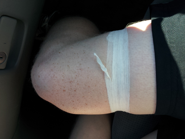 Wrapping the leg for IT Band injuries